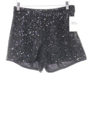 H&M Hot Pants schwarz Glanz-Optik