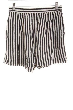 H&M Hot Pants schwarz-wollweiß Streifenmuster Beach-Look
