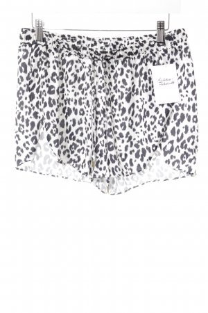 H&M Hot Pants weiß-schwarz Animalmuster Animal-Look