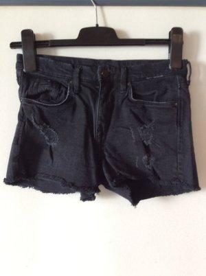 H&M Hotpants Gr 34 Destroy Optik schwarz