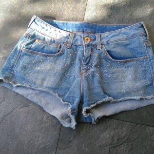 H&M Hotpants mit Nieten und Fransen Gr. 34/XS