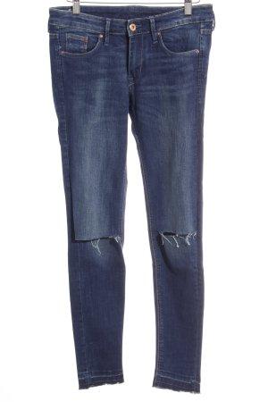 H&M Hüfthose dunkelblau Casual-Look