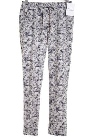H&M Hüfthose weiß-dunkelblau florales Muster sportlicher Stil