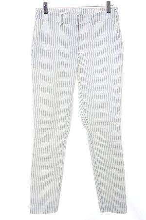 H&M Hüfthose weiß-schwarz Nadelstreifen Street-Fashion-Look