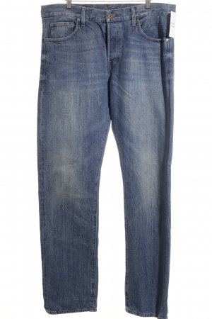 H&M Hüftjeans blau klassischer Stil
