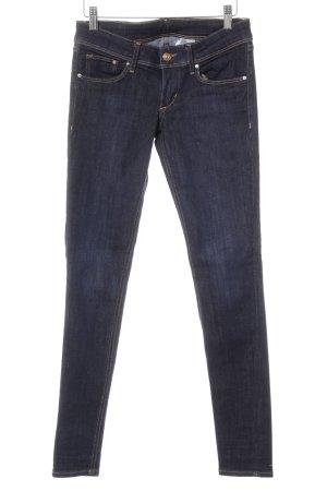 H&M Jeans taille basse bleu foncé style décontracté