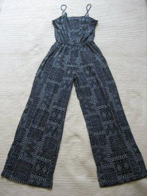 H&M Tuta blu scuro-bianco