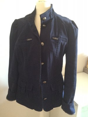 H&M Jacke Blazer 38 M blau marine sailor Frühling Trenchcoat