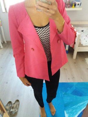 H&M Jacke Blazer Übergang Herbst pink 34 XS Blogger