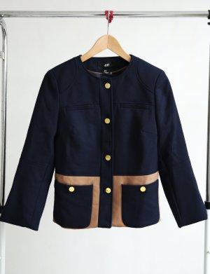H&M Jacke dunkelblau/beige