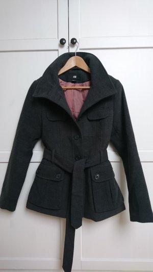 H&M Jacke, elegante Woll Jacke, kurzer Parka
