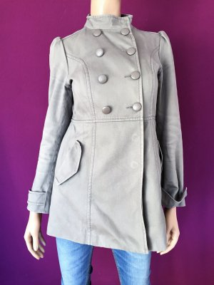 H&M Jacke Gr. 36 Nude Trench Coat Mantel Kurzmantel Beige Trenchcoat Divided