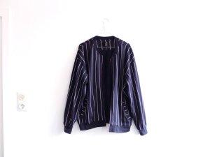 H&M Jacke Gr. M 38 40 42 Fleece Hoodie blau weiß gestreift Sweat Sweatjacke