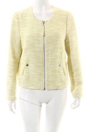 H&M Jacke hellgrün-weiß meliert Casual-Look