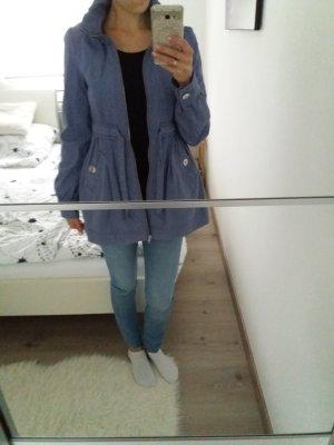 H&M Jacke Mantel Übergang Herbst blau 34 36 XS S