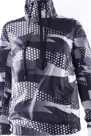 H&M Jacke schwarz-grauer Pünktchen-Print