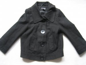 H&M jacke schwarz kurz wunderschoen gr. 34 xs neuwertig