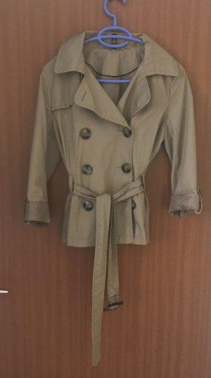 H&M Jacke Trenchcoat Trenchjacke Gr. 36 S beige Sommerjacke
