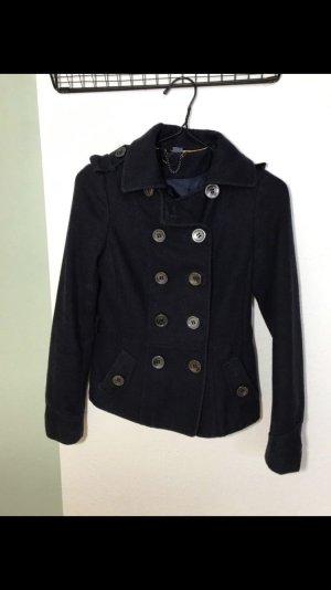 H&M Wool Jacket dark blue