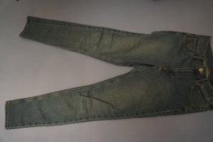 H&M Jeans a vita alta blu acciaio