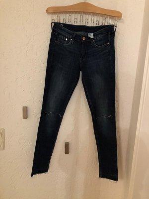 H&M Jeans cigarette bleu foncé