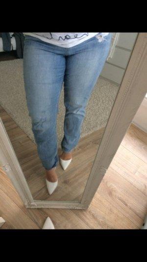 H&M Jeans blau usedlook