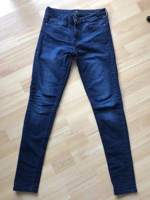 H&M Jeans stretch bleu-bleu foncé