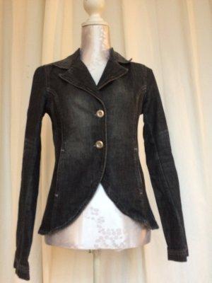 H&M Jeans Blazer schwarz-grau