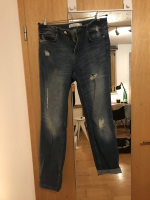 H&M Jeans Boyfriend 29 Ripped Destroyed