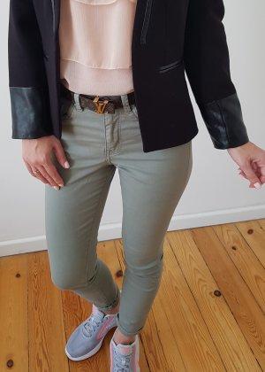 H&M Jeans Chino XXS XS 32 34 25 grün khaki mint Röhrenjeans Skinny Hose Stoffhose Leggings Jeggings Neu NP 29€