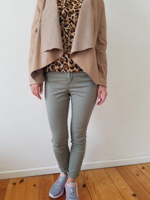 H&M Jeans Chino XXS XS 32 34 25 grün khaki Röhrenheans Skinny Hose Stoffhose