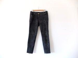 H&M Jeans grau Gr. 40 dunkelgrau Röhre Skinny Jeans Paisley brokat