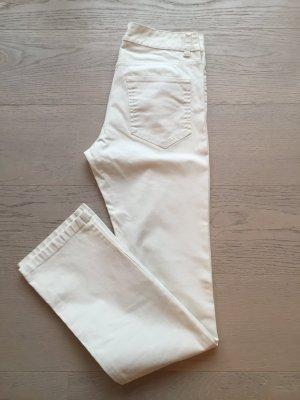 H&M Hoge taille broek wit Gemengd weefsel
