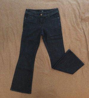 H&M Jeans, Größe 38, dunkelblau, Bootcut, hoher Bund, kaum Gebrauchsspuren