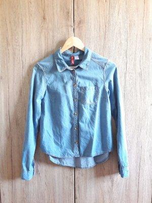 H&M Jeans Hemd blau Gr. 34