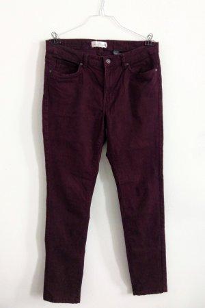 H&M Jeans Hose Bordeaux dunkelrot weinrot L / 42