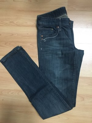 H&M Jeans Hose Röhre blau Gr. 26/27