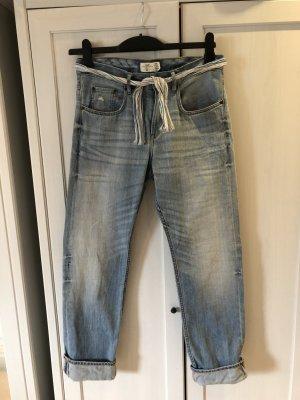 H&M L.O.G.G. Jeans boyfriend multicolore coton