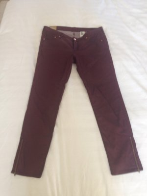 H&M Jeans in Weinrot, Gr 33