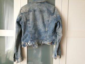 H&M Jeans Jacke Denim hellblau stonewashed