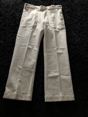 H&M Denim Flares cream
