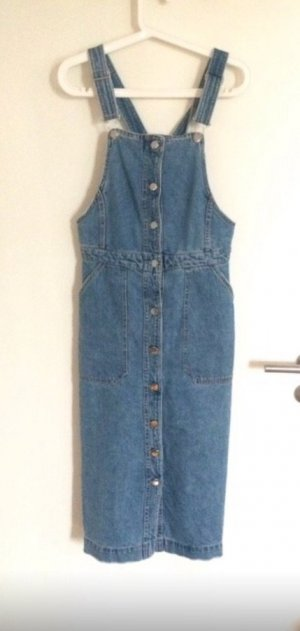 H&M Jeans Kleid Latzkleid High Waist L 40 42