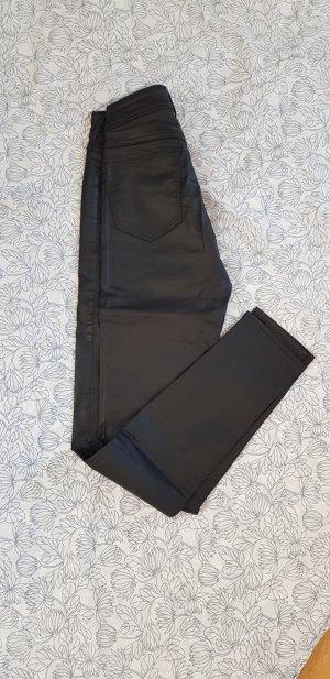 H&M Jeans Lederoptik