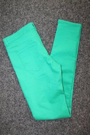 H&m Jeans Röhre divided Top grün Größe S M 38 stretch Skinny