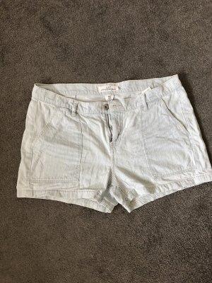 H&M Shorts bianco-azzurro
