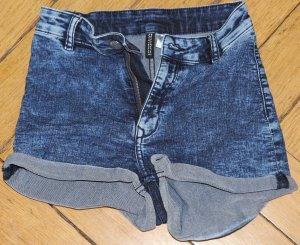 H&M Jeans Shorts Gr. 34 blau high waist schön stretchig wie neu