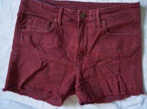 H&M Pantaloncino di jeans bordeaux