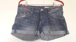 H&M Jeans Shorts mit Umschlag klassisch blau Gr. 36
