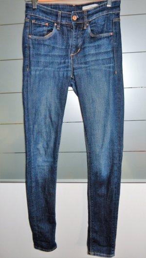H&M Jeans Skinny fit, dunkelblau, Gr. 27