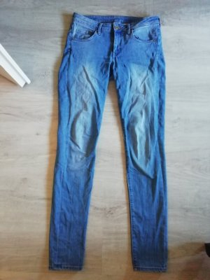 H&M Jeans Slim Fit Röhre Skinny Low Waist medium blue